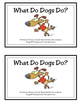 What Do Dogs Do? Reproducible Guided Reader