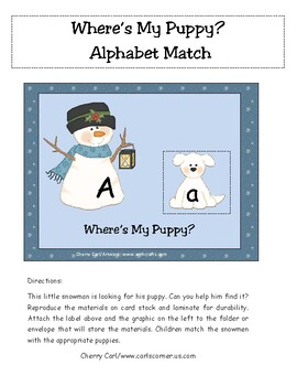 Where's My Puppy? Alphabet Match
